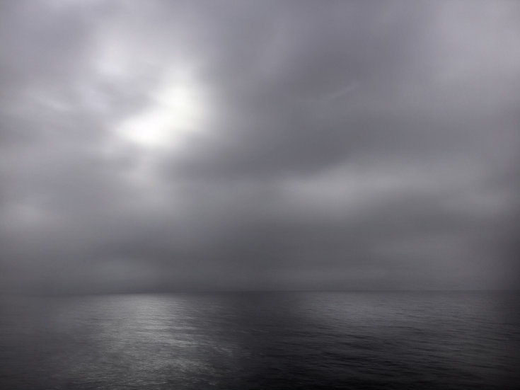 Lac Léman charboneux - Fornat 40x50cm