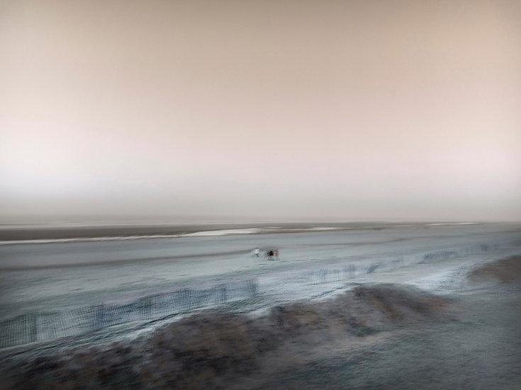 Le Touquet l'hiver - Format 70x100cm