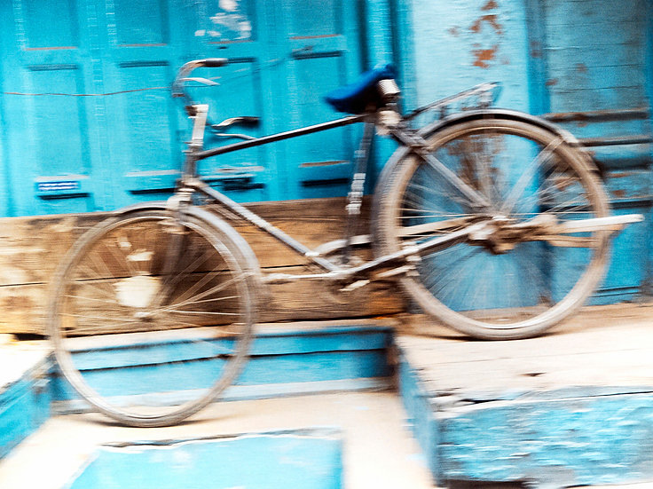 Inde vélo bleu
