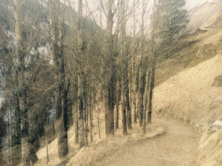 Chemin Zermatt monochrome - Format 40x50cm