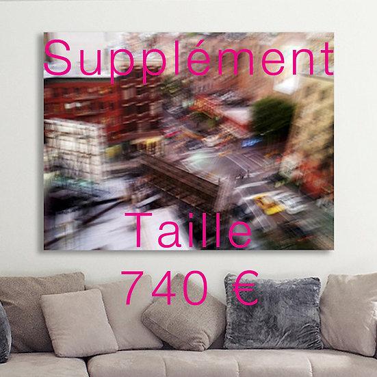 Supplément format tirage 120/120 cm ou 90/135 cm ou 100/133 cm