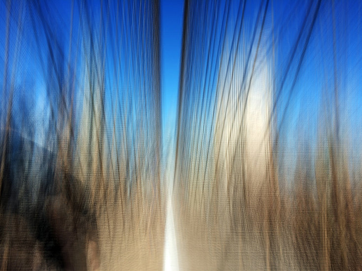 New York Bridge bleu