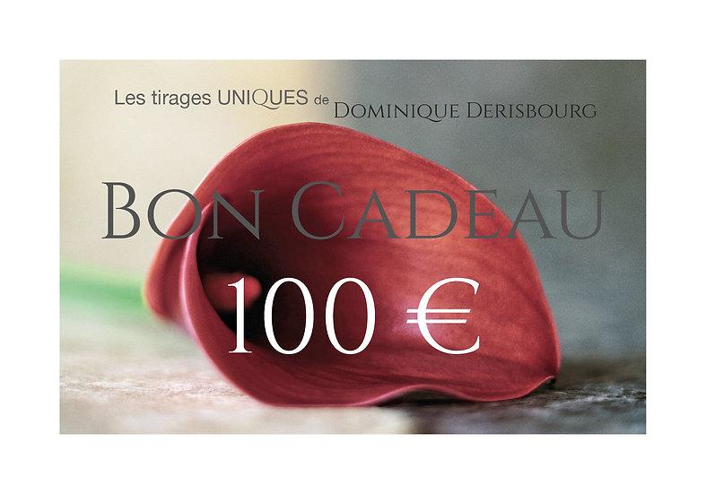 Bon cadeaux valeur 100 €
