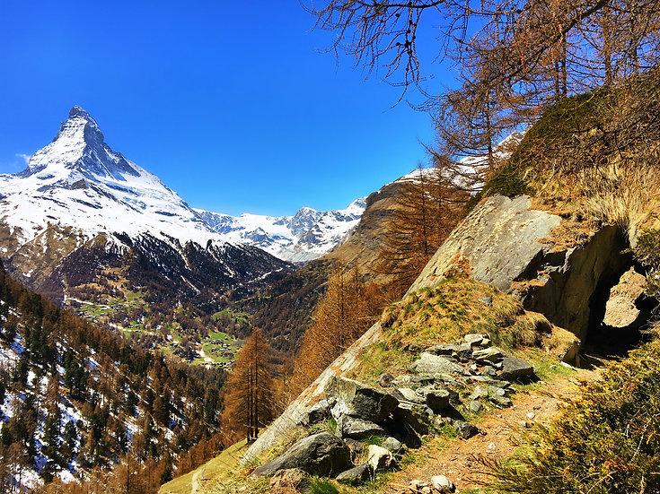 Zermatt Cervin Bleu