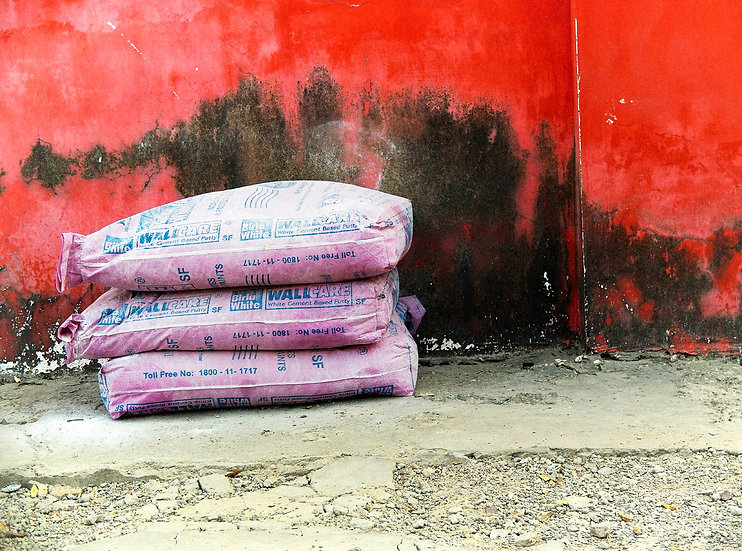 Inde mur rouge