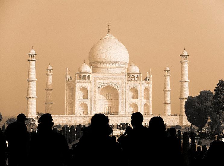 Tirage unique n/b du Taj Mahal Inde