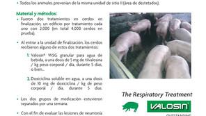 ESTUDIO COMPARATIVO ENTRE VALOSIN® WSG Y DOXICICLINA PARA EL CONTROL DE Mycoplasma hyopneumoniae.