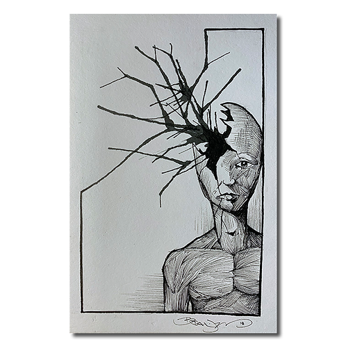 Original pen and ink drawing #4