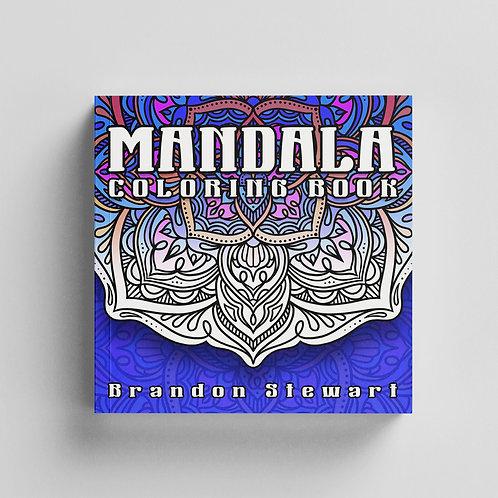 Mandala coloring book - digital (PDF)