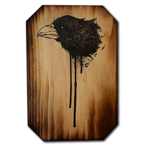 NEVERMORE print on pine #12