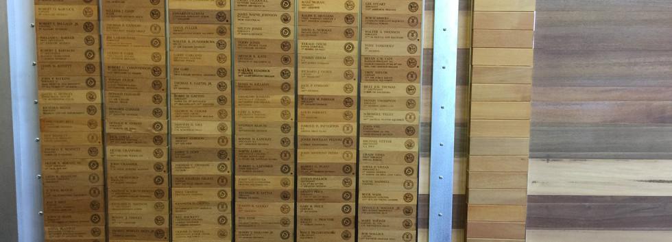 Honor Wall Names Detail