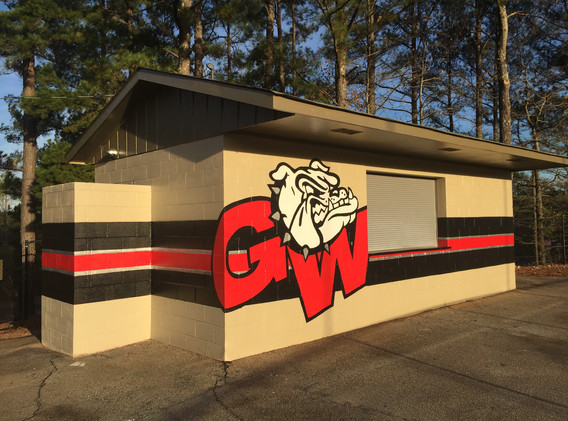 Finished concession stand mural
