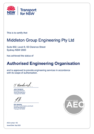 Middleton Group - AEO Certificate of Aut