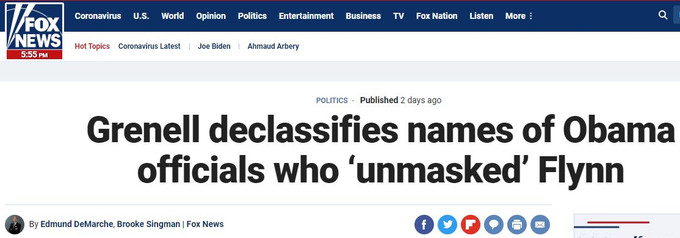 Grenell declassifies names of Obama officials who unmasked Flynn