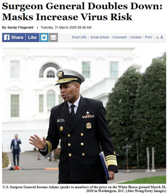 Surgeon General Doubles Down: Masks Increase Virus Risk
