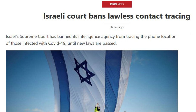 Israeli court bans lawless contact tracing