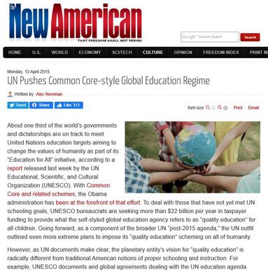 UN Pushes Common Core-style Global Education Regime