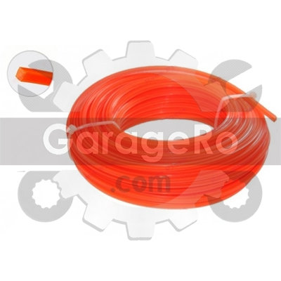 Fir motocoasa / trimmer 100m Ø 3.0 (patrat)