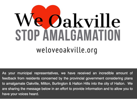 "Councillors Gittings & Haslett-Theall Share ""WeLoveOakville"" Message"