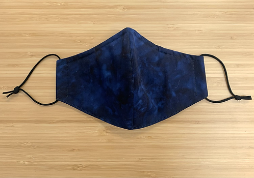 Batik Navy Tie Dye Face Mask