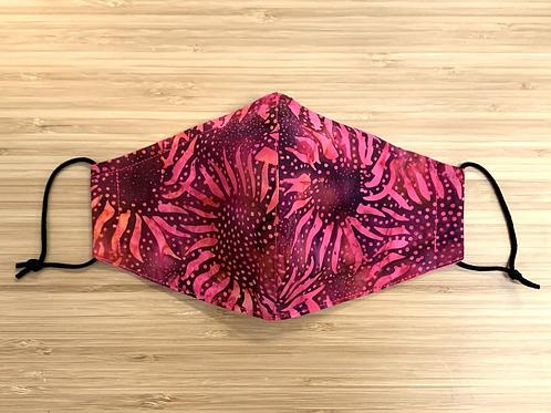 Batik Sunflower Face Mask
