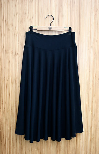 Merino Wool Circle Skirt - Midi (fleece lined)