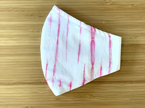 Pink Tie Dye Stripe Face Mask
