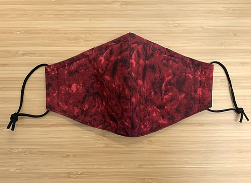 Batik Red Tie Dye Face Mask