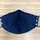 Thumbnail: Blue and White Polka Dot Anchor Face Mask