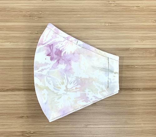 Batik Pastel Floral Face Mask