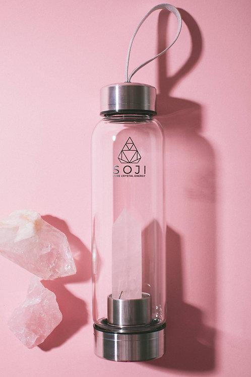 Rose Quartz Gem Elixir Water Bottle