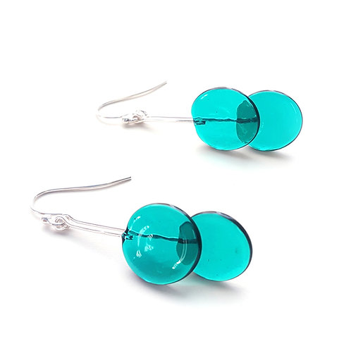 WS Double Circle Earrings