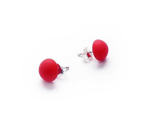 WS Dragon Fruit Glass Stud Earrings