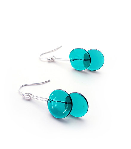 WS Double Circle Earrings