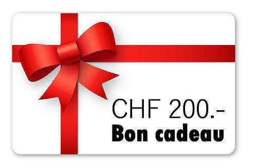 Bon cadeau CHF 200.-