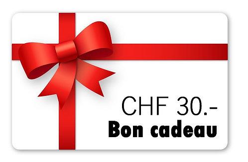 Bon cadeau CHF 30.-