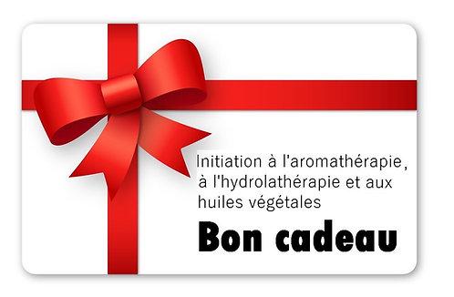 Bon cadeau - Initiation aromathérapie, hydrolathérapie et huiles végétales