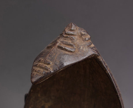 Late 19th Century/Early 20th Century Coconut Shell Spoon. Papua New Guinea