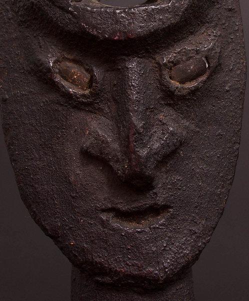 Stone carved Suspension Hook, Sawos People.