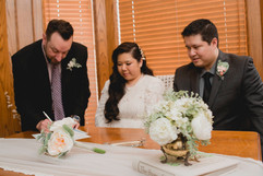 Signing the Marriage Registration