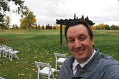 Golf Course Wedding Selfie