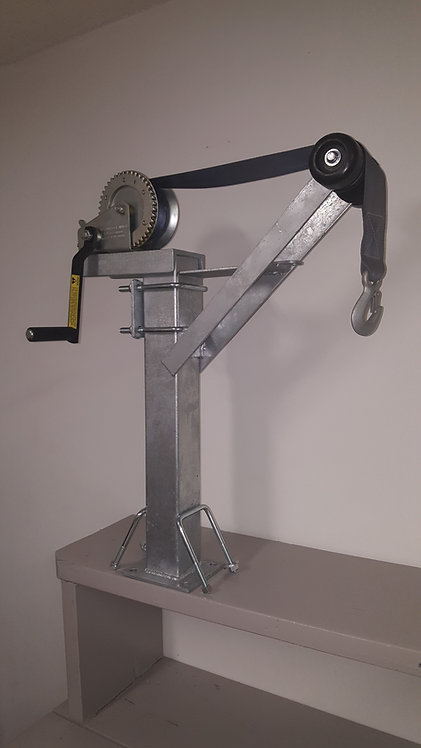 Heavy Duty Adjustable Winch Stand w/1400lbs (Galvanized)
