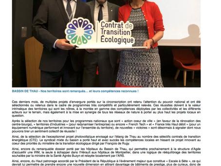[Hérault Tribune] Bassin de Thau : Nos territoires sont remarqués... et leurs compétences reconnues