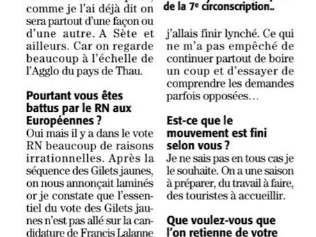 [Interview Midi Libre] Au lendemain des Européennes, place à l'action !