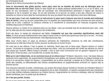 [Tribune] Christophe Euzet : Mes voeux citoyens pour 2019