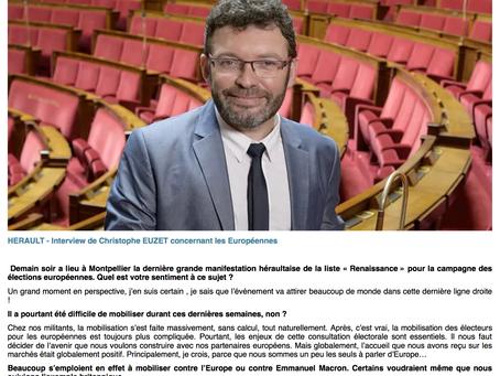 Interview de Christophe Euzet concernant les Européennes