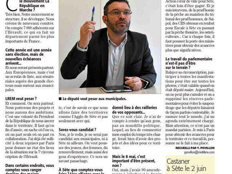 Interview au Midi Libre Sète