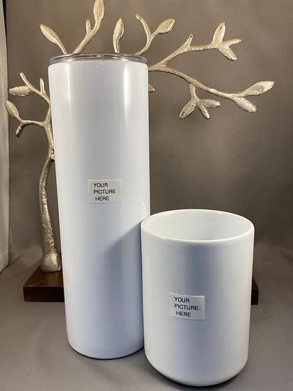 Custom Coffee Cup & Tumbler Set