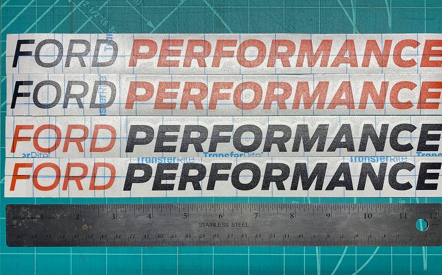 "Ford Performance Banner 12"" Vinyl Sticker"