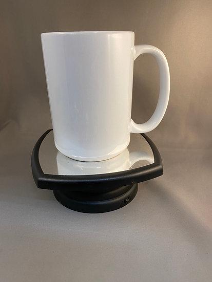 Ceramic 15 oz mug customized with name and photos